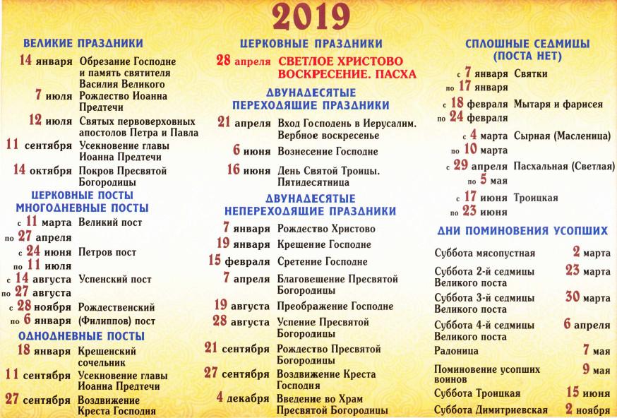 Великий пост в 2019 году у православных начнется в марте