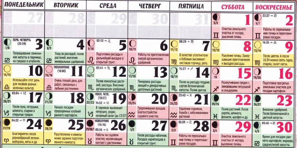 posevnoy kalendar aprel 2017