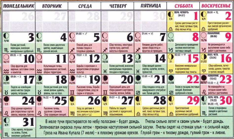 posevnoy kalendar iul 2017