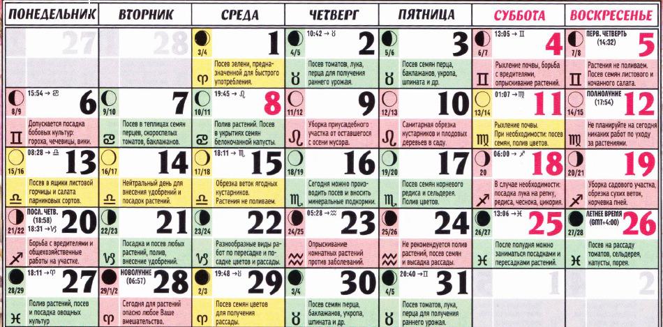 Посадка помидор календарь 2017