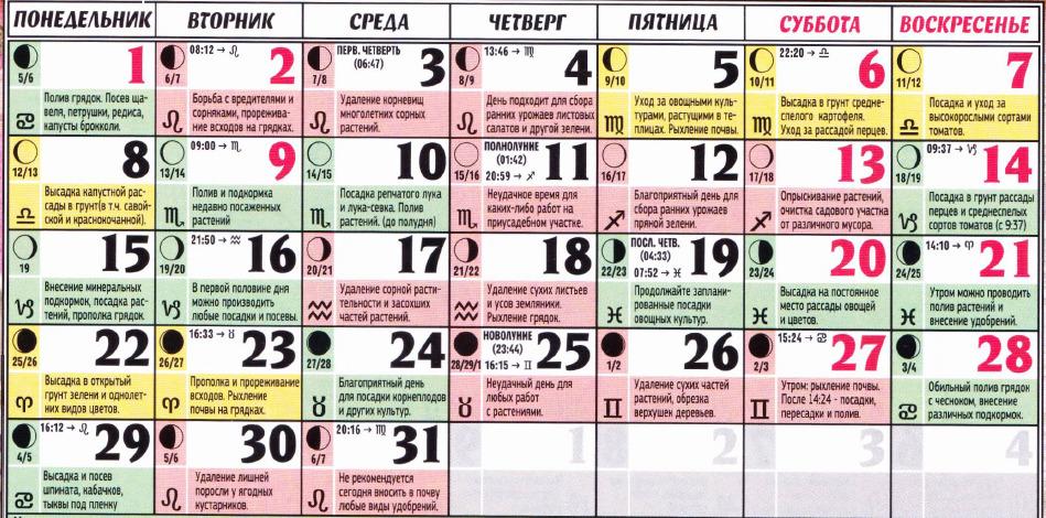 posevnoy kalendar may 2017