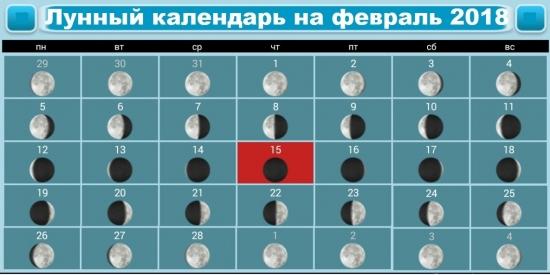 Лунный календарь на февраль 2018: полнолуние и новолуние, благоприятные дни
